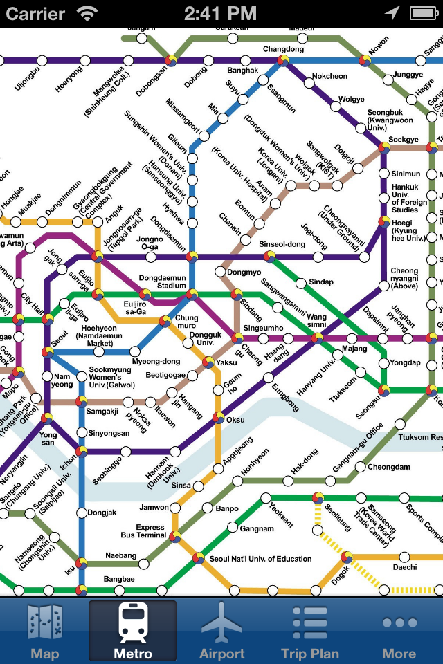Сеул Offline Map - Город Metro